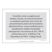 Lei Estadual RJ3426 - A5 - Acrílico