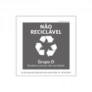 Lei Municipal RJ5538 - Coleta Seletiva_ Não Reciclável - Acílico