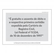 Lei Municipal RJ6360 - A5 - Acrílico