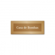 Placa Casa de Bombas - 15 x 6 cm - Ouro Velho