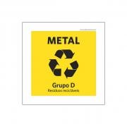 Placa Coleta Seletiva - Metal - PS