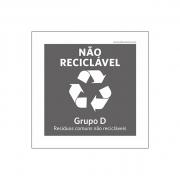 Placa Coleta Seletiva - Não Reciclável - PS