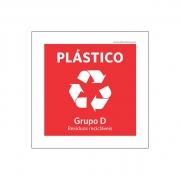 Placa Coleta Seletiva - Plástico - PS