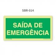 Placa com Texto Saída de Emergência - SBR 014