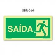 Placa de Escape à Direita - SBR 016