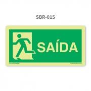 Placa de Escape à Esquerda - SBR 015