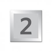 Placa de Numeração - 10 x 10 cm - Prata