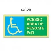 Placa de Resgate - PcD - SBR-AR