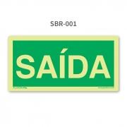 Placa de Saída - SBR 001