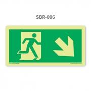 Placa de Saída Seta 45º para Baixo à Direita - SBR 006