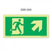 Placa de Saída Seta 45º para Cima à Direita - SBR 008