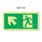 Placa de Saída Seta 45º para Cima à Esquerda - SBR 009