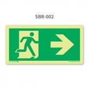 Placa de Saída Seta à Direita - SBR 002