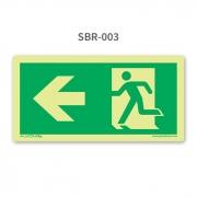 Placa de Saída Seta à Esquerda - SBR 003