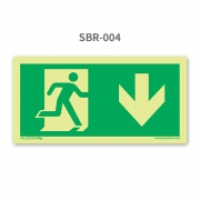 Placa de Saída Seta para Baixo - SBR 004