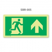 Placa de Saída Seta para Cima - SBR 005