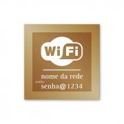 Placa de WiFi - 14 X 14 cm - Ouro Velho