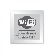 Placa de WiFi - 14 X 14 cm - Prata