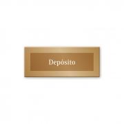 Placa Depósito - 15 x 6 cm - Ouro Velho