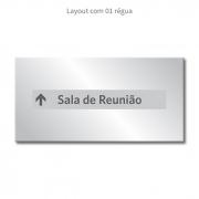 Placa Direcional - Prata