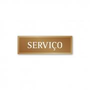 Placa Elevador Serviço 18 X 6 cm - Ouro Velho