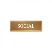 Placa Elevador Social 18 X 6 cm - Ouro Velho