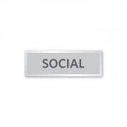 Placa Elevador Social 18 X 6 cm - Prata