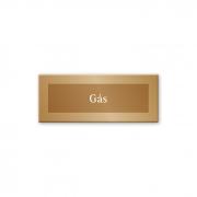 Placa Gás - 15 x 6 cm - Ouro Velho