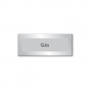 Placa Gás - 15 x 6 cm - Prata