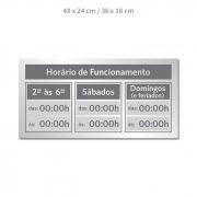 Placa Horário de Funcionamento
