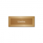 Placa Lixeira -15 x 6 cm - Ouro Velho