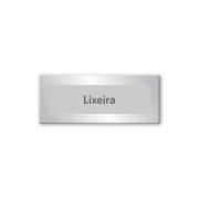 Placa Lixeira -15 x 6 cm - Prata