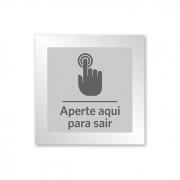 Placa para Abrir Portão - 10 X 10 cm - Prata