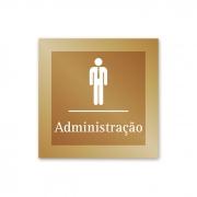 Placa para Administração - 14 X 14 cm - Ouro Velho