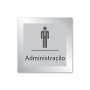 Placa para Administração - 14 X 14 cm - Prata