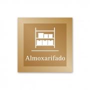 Placa para Almoxarifado - 14 X 14 cm - Ouro Velho