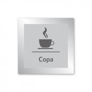 Placa para Copa - 14 X 14 cm - Prata