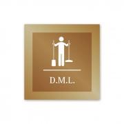 Placa para DML - 14 X 14 cm - Ouro Velho