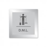 Placa para DML - 14 X 14 cm - Prata