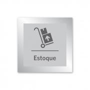 Placa para Estoque - 14 X 14 cm - Prata