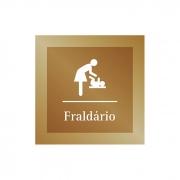 Placa para Fraldário - 14 x 14 cm - Ouro Velho