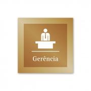 Placa para Gerência - 14 X 14 cm - Ouro Velho