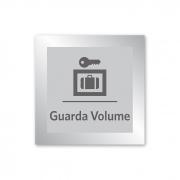 Placa para Guarda-Volumes - 14 x 14 cm - Prata