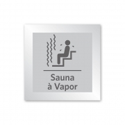 Placa para Sauna a Vapor - 18 X 18 cm - Prata