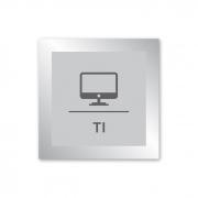 Placa para TI - 14 X 14 cm - Prata
