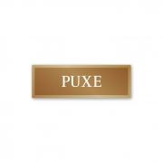 Placa Puxe - 18 X 6 cm - Ouro Velho