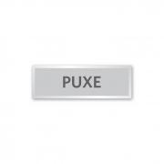 Placa Puxe - 18 X 6 cm - Prata