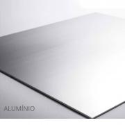 Placa Quadrada - Alumínio Prata