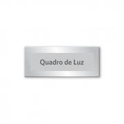 Placa Quadro de Luz - 15 x 6 cm - Prata