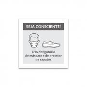 Placa Uso obrigatório de máscara e protetor de sapatos - PS